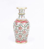 Little India White Marble Jaipuri Gold Painting Meenakari Flower Vase