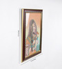 Little India Wooden 9 x 0.5 x 13 Inch World Famous Cute Bani Thani Gemstone Framed Painting