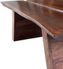 Live EDGE Coffee Table in Dark Brown Finish by Inliving