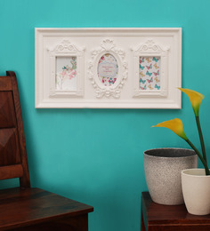 Looking Good Furniture Peace White Plastic Photo Frame