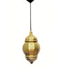 Logam Moorish Moroccan Golden Iron Hanging Lamp