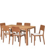 Lombard Six Seater Dining Table in Beech colour by @home
