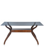 Lopez Six Seater Dining Table in Brown Colour by @ Home