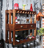Connell Wine Rack in Provincial Teak Finish by Woodsworth