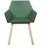 Lotus Chair in Dark Green Colour by DesignBar