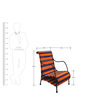 Love Chair in Tangerine & Indigo Stripes by Sahil Sarthak Designs
