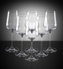 Lucaris Hong Kong Hip Chardonnay Crystal 425 ML Wine Glasses - Set of 6