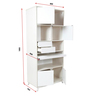 Lumen Study cum Bookcase in White and Pine Colour by HomeTown