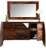 Dvina Sideboard with Mirror in Provincial Teak Finish by Woodsworth