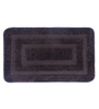 Lushomes Brown Polyester Bath and Toilet Mat - Set of 2