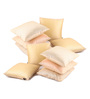 Lushomes Cream Polyester 12 x 12 Inch Cushion Covers - Set of 10