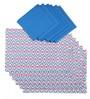 Lushomes Diamond Printed Multicolour Cotton Placemat & Napkin - Set of 12