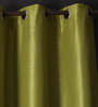 Lushomes Ginger Polyester 90 x 54 Inch Twinkle Star 8 Eyelets Door Curtain with Blackout Lining - Set of 2