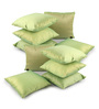 Lushomes Green Polyester 12 x 12 Inch Cushion Covers - Set of 10