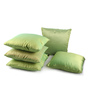 Lushomes Green Polyester 16 x 16 Inch Cushion Covers - Set of 5