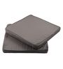 Lushomes Grey Cotton & Foam 16 x 16 Inch Half Panama Chair Pads - Set of 2