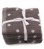Lushomes Grey Cotton 12 x 12 Face Towel - Set of 8