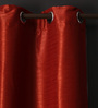 Lushomes Maroon Polyester 108 x 54 Inch Twinkle Star 8 Eyelets Long Door Curtain with Blackout Lining - Set of 2