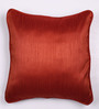 Lushomes Maroon Polyester 16 x 16 Inch Twinkle Star Cushion Covers with Cord Piping - Set of 2