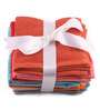 Lushomes Multicolour Cotton 12 x 12 Face Towel - Set of 10