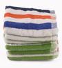 Lushomes Multicolour Cotton 12 x 12 Face Towel - Set of 6