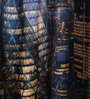 Lushomes Multicolour Polyester 54 x 90 Inch Digitally Printed London Blackout Door Curtains - Set of 2