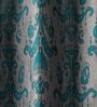 Lushomes Multicolour Jacquard 54 x 90 Inch Door Curtains with 8 Eyelets - Set of 2