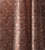 Lushomes Multicolour Jacquard 54 x 90 Inch Solid Door Curtains with 8 Eyelets - Set of 2