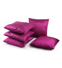 Lushomes Pink Polyester 16 x 16 Inch Cushion Covers - Set of 5