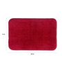 Lushomes Red Cotton Bath and Toilet Mat - Set of 2