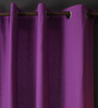 Lushomes Royal Lilac Cotton 108 x 54 Inch Plain Long Door Curtain with 8 Eyelets & Plain Tiebacks - Set of 2