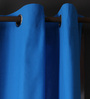 Lushomes Sky Diver Cotton 90 x 54 Inch Plain Door Curtain with 8 Eyelets & Plain Tiebacks - Set of 2