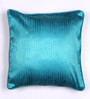 Lushomes Turquoise Polyester 16 x 16 Inch Twinkle Star Cushion Covers with Cord Piping - Set of 2