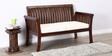 Lytton Two Seater Sofa in Provincial Teak Finish by Amberville