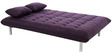 Madison Queen Size Sofa Bed in Purple Colour by Furny