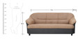 Madisson Three Seater Sofa in Beige Colour by Furnitech