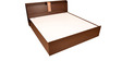 Magna King Bed with Storage in Walnut Finish by HomeTown