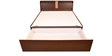 Magna Queen Bed with Storage in Walnut Finish by HomeTown