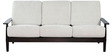 Maracaibo Beige Three Seater Sofa in Cappuccino Finish by CasaCraft