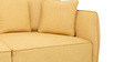 Marcelo Three Seater Sofa in Yellow Colour by CasaCraft