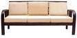 Mariana Teak Wood Sofa Set (1 + 1 + 3) Seater in Fresh Walnut Finish by Finesse