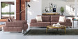 Marisela Three Seater Sofa in Brown Colour by CasaCraft