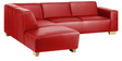 Marnold L Shape Sofa in Red Colour by Madesos