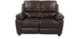 Marshall Two Seater Sofa in Russet Brown Colour Leatherette by @home
