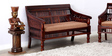 Maurya Handcrafted Two Seater Sofa in Honey Oak Finish by Mudramark
