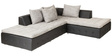 Maxwood L Shape Sofa in Black & Grey Colour by Madesos