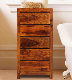 Oakland Solid Wood Chest Of Drawers In Honey Oak Finish By Woodsworth