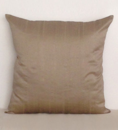 Marigold Ash Grey Polyester Dupion 16 X 16 Inch Cushion Cover