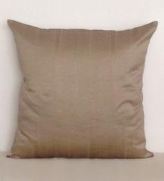 Marigold Ash Grey Polyester Dupion 16 X 16 Inch Cushion Cover
