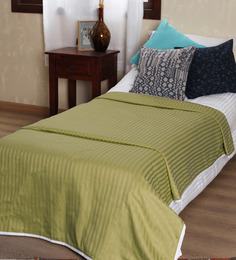Mark Home Lime Self Striped Cotton Single Bed Dohar